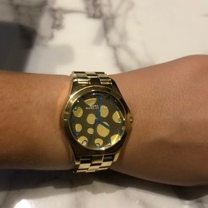 Gold with Teal detail Marc Jacobs Watch